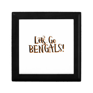 Bengals Print Small Square Gift Box