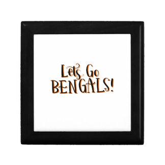 Bengals Print Small Square Gift Box
