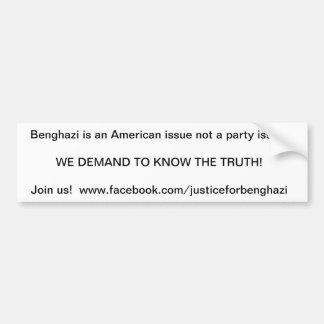 benghazi bumper sticker demand the truth