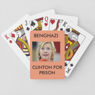 BENGHAZI CLINTON FOR PRISON POKER DECK