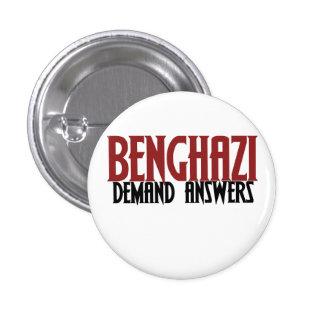 Benghazi Demand Answers 3 Cm Round Badge