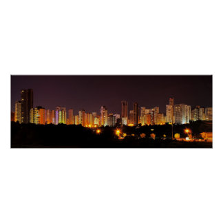 Benidorm by Night Poster