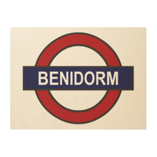 Benidorm Station Underground Wood Wall Art
