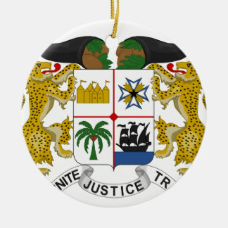 Benin Coat of Arms Ceramic Ornament