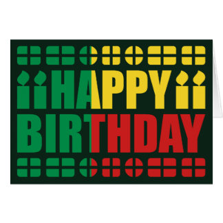 Benin Flag Birthday Card