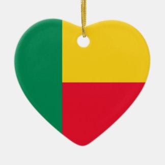 Benin Flag Heart Ornament