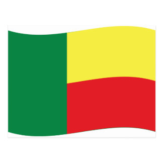 benin flag icon postcard