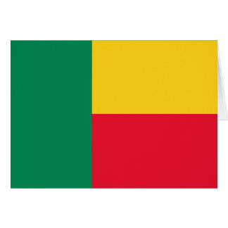 Benin Flag Note Card