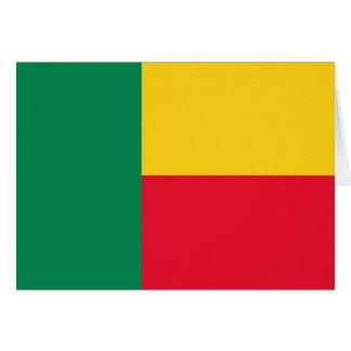 Benin Flag Note Card