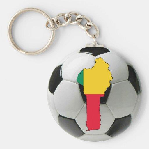 Benin football soccer key chain