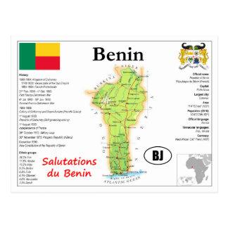 Benin map Postcard