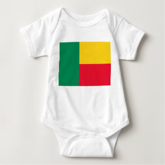 Benin National World Flag Baby Bodysuit