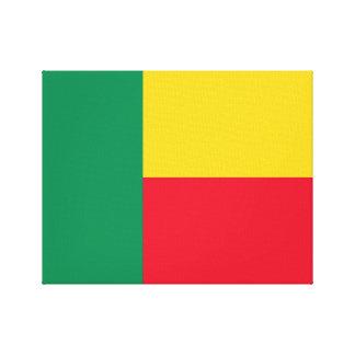 Benin National World Flag Canvas Print