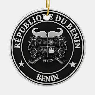 Benin  Round Emblem Ceramic Ornament