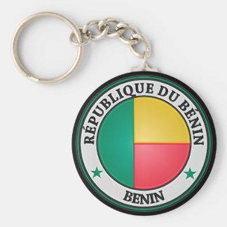Benin  Round Emblem Key Ring