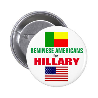 Beninese Americans for Hillary 2016 6 Cm Round Badge