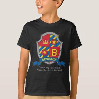 Benjamin boys B name & meaning knights shield T-Shirt