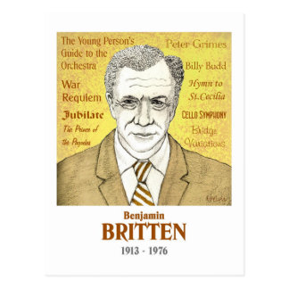 Benjamin Britten postcard