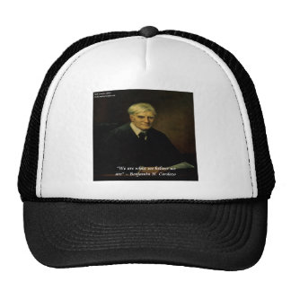 "Benjamin Cardozo ""Who We Are"" Quote Hat"