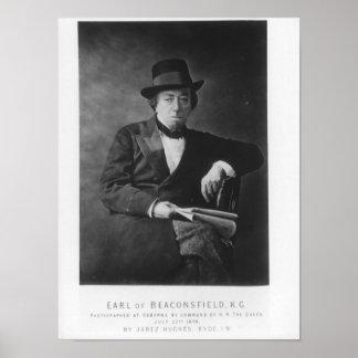 Benjamin Disraeli, 1st Earl of Beaconsfield Poster