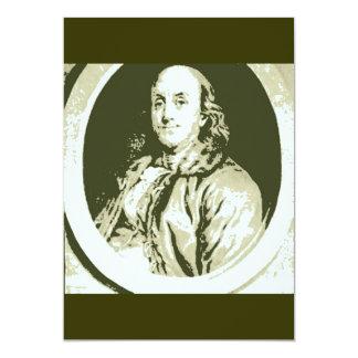 Benjamin Franklin 13 Cm X 18 Cm Invitation Card