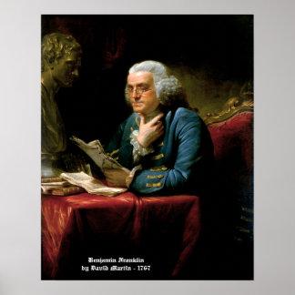 Benjamin Franklin - 1767 Painting by David Martin Print
