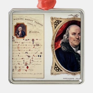 Benjamin Franklin  1847 Metal Ornament