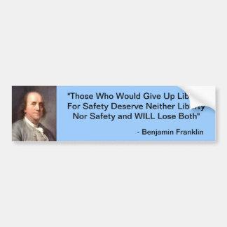 Benjamin Franklin Bumper Sticker