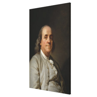 BENJAMIN FRANKLIN by Joseph Siffred Duplessis Canvas Prints