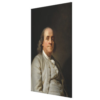 BENJAMIN FRANKLIN by Joseph Siffred Duplessis Canvas Print