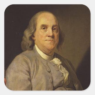 Benjamin Franklin by Joseph Siffred Duplessis Square Sticker