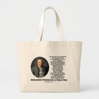 Benjamin Franklin Conversion Of Water Into Wine Tote Bag