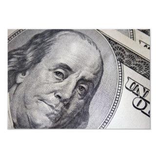 Benjamin Franklin Face 3.5x5 Paper Invitation Card