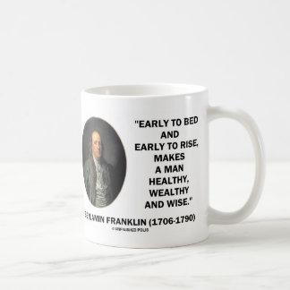 Benjamin Franklin Healthy Wealthy Wise Quote Coffee Mug