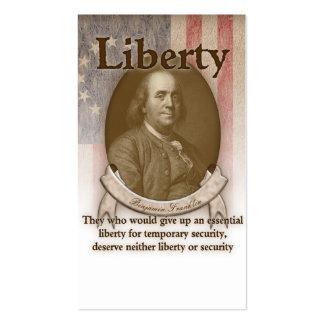 Benjamin Franklin – Liberty Business Card