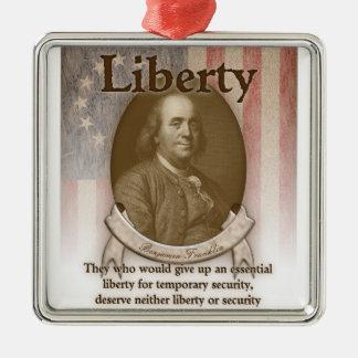 Benjamin Franklin – Liberty Metal Ornament