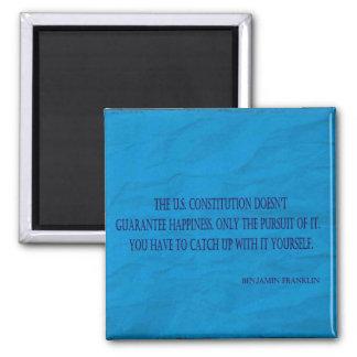 Benjamin Franklin Quote Square Magnet