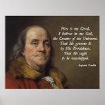 Benjamin Franklin Religion Poster