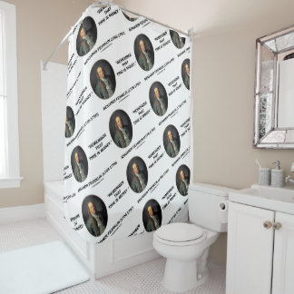 Benjamin Franklin Remember Time Is Money Quote Shower Curtain