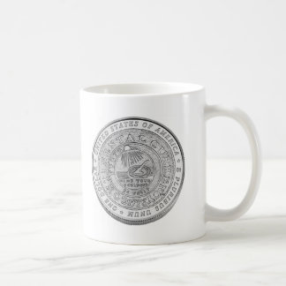 Benjamin Franklin Silver Coin Coffee Mug