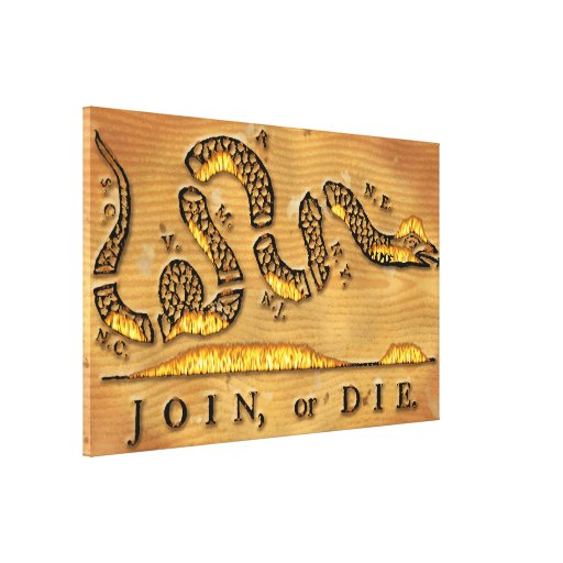 Benjamin Franklin's Join Or Die Political Cartoon Canvas Prints