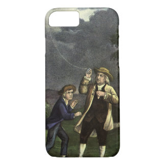 Benjamin Franklin's Lightning Experiment with Kite iPhone 7 Case