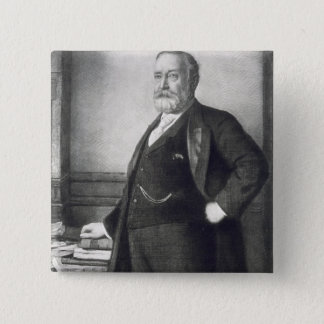 Benjamin Harrison (1833-1901), 23rd President of t 15 Cm Square Badge