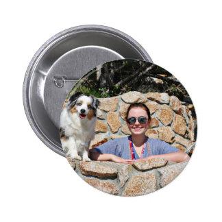 Bennett - Aussie Mini - Rosie - Carmel Beach 6 Cm Round Badge