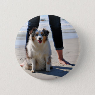 Bennett - Aussie Mini - Rosie - Carmel Beach 6 Cm Round Badge