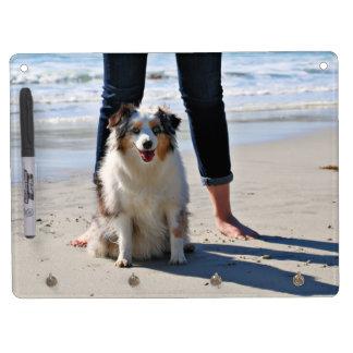 Bennett - Aussie Mini - Rosie - Carmel Beach Dry Erase Board With Key Ring Holder
