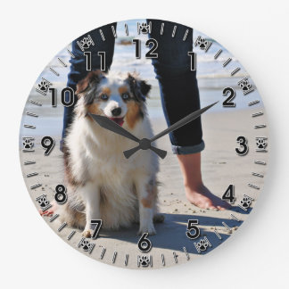 Bennett - Aussie Mini - Rosie - Carmel Beach Large Clock