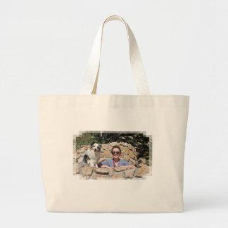 Bennett - Aussie Mini - Rosie - Carmel Beach Large Tote Bag