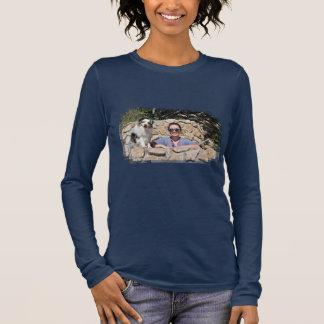 Bennett - Aussie Mini - Rosie - Carmel Beach Long Sleeve T-Shirt