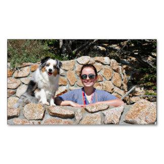 Bennett - Aussie Mini - Rosie - Carmel Beach Magnetic Business Card
